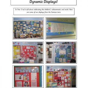 wall displays from year three